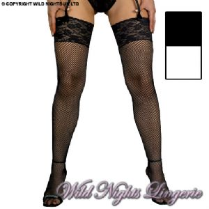Luxury Lace Top Fishnet Stockings